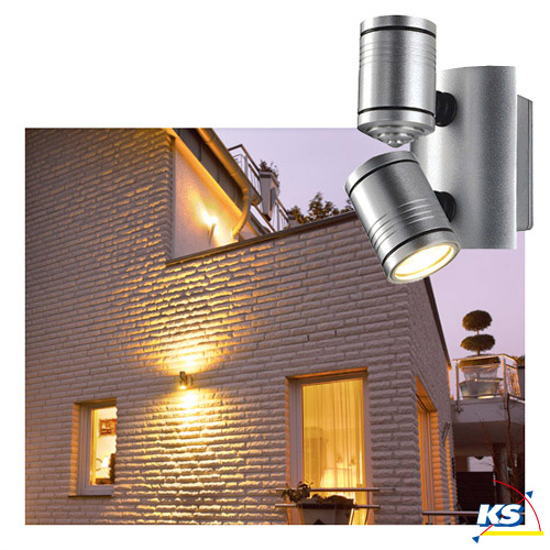 Outdoor luminaire drop 100 silver grey metalic for Luminaire outdoor