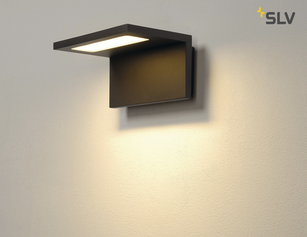 Led Outdoor Luminaire Angolux Wall Wall Luminaire 36 Smd Led 3000k Anthracite
