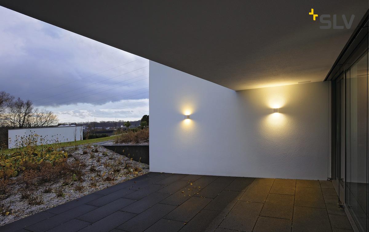 Udendørs Væglampe SITRA CUBE, UPDOWN, IP44, 2x GX53 TCR TSE max. 9W, hvid