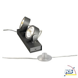 KALU LED 2 FLOOR Gulvlampe, 60°, sort