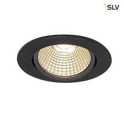 LED Ceiling recessed spot NEW TRIA 68 round for Ø6.8cm, 7.2W 1800-3000K 440lm 38°, swiveling, TRIAC dimmable