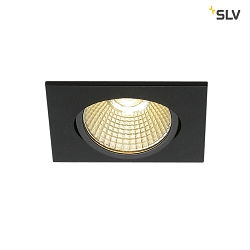 LED Indbygningsspot NEW TRIA 68 LED, firkantet, 9W, COB LED, 3000K, 38°, Clip fjedre