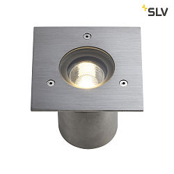 Recessed luminaire N-TIC PRO GU10 Stainless steel, brushed, square cover