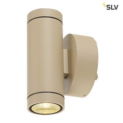 LED Udendørslampe HELIA UP/DOWN LED Væglampe, 38°, 3000K, IP55, beige