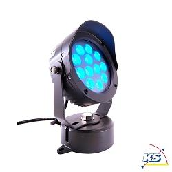 LED Udendørsspot POWER SPOT VI RGB, 24V DC, 18W, 30°, antracit