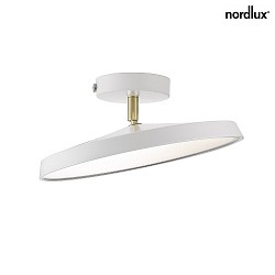 design for the people by Nordlux LED Væg-/Loftlampe ALBA PRO 30, skærm Ø 30cm, 14W 2700K 1000lm 120°, hvid