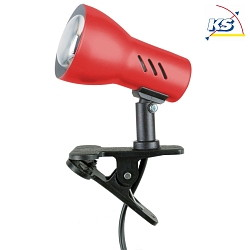 Clip-on lamp CLAMPSPOT E27, red