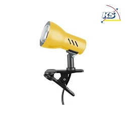 Clip-on lamp CLAMPSPOT E14, yellow