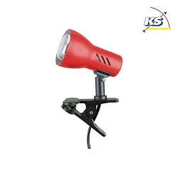 Clip-on lamp CLAMPSPOT E14, red