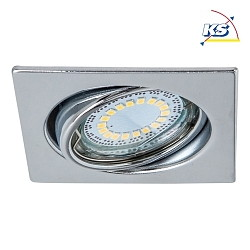 LED Indbygningsspot CRISTALDREAM 55 Downlight, firkantet, 1xGU10 LED, krom