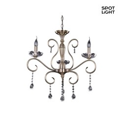 Chandelier MAESTRA, 3-flamme, antik messing