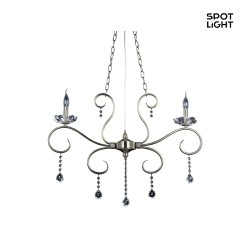 Chandelier MAESTRA, 2-flamme, antik messing