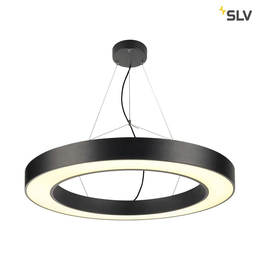 Omtalade LED Pendant luminaire MEDO RING 90 LED, 58W, 105°, 3000K, black JN-63