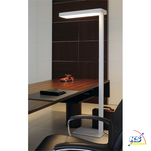 LED Standerlampe WORKLIGHT LED SL 1, hvid, inkl 3 Philips LED Strips, 3000K, med Sensor SLV
