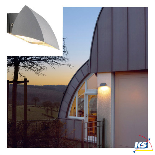 Outdoor luminaire nova wall out silver grey for Luminaire outdoor