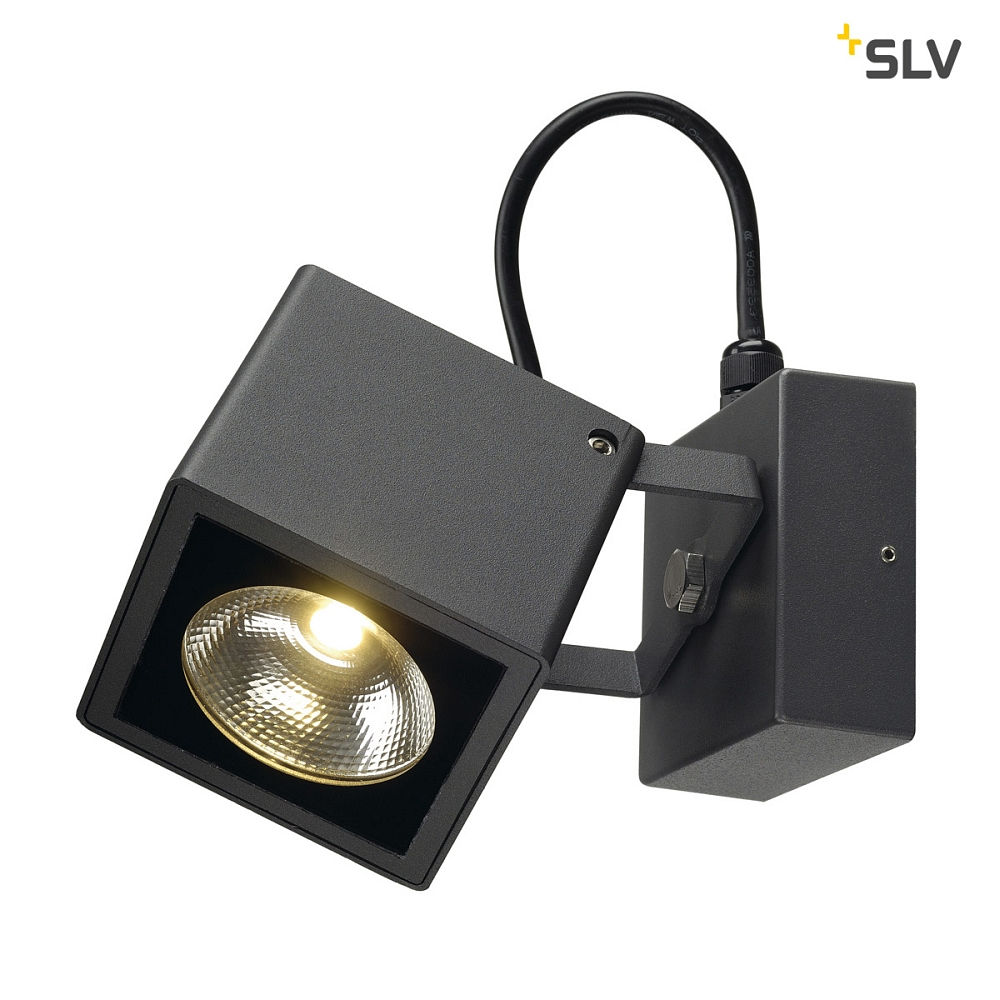 Outdoor LED wall ceiling luminaire NAUTILUS 10 BIG, IP54, square, 17W 3000K 950lm 25°, anhracite