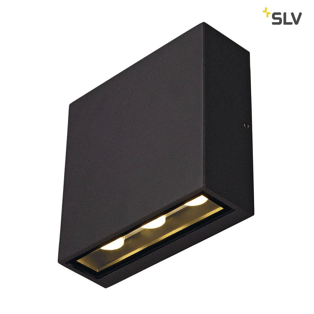 Wall Luminaire Big Quad Outdoor Luminaire Square 6x1w Led Warmwhite Anthracite