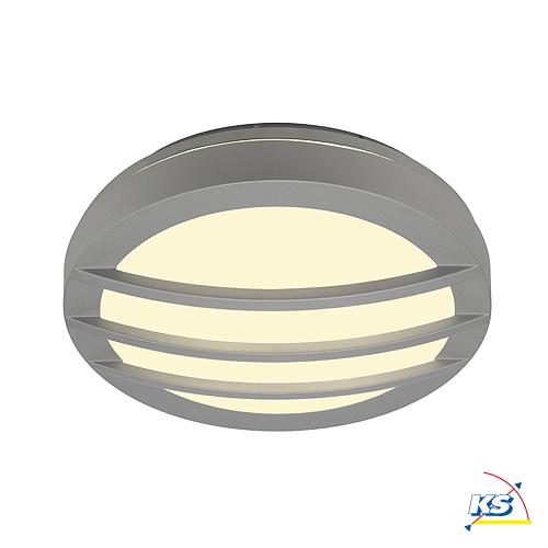 V u00e6glampe DRAGAN GRID Loftlampe, rund, alu grå, G24, 2x26W