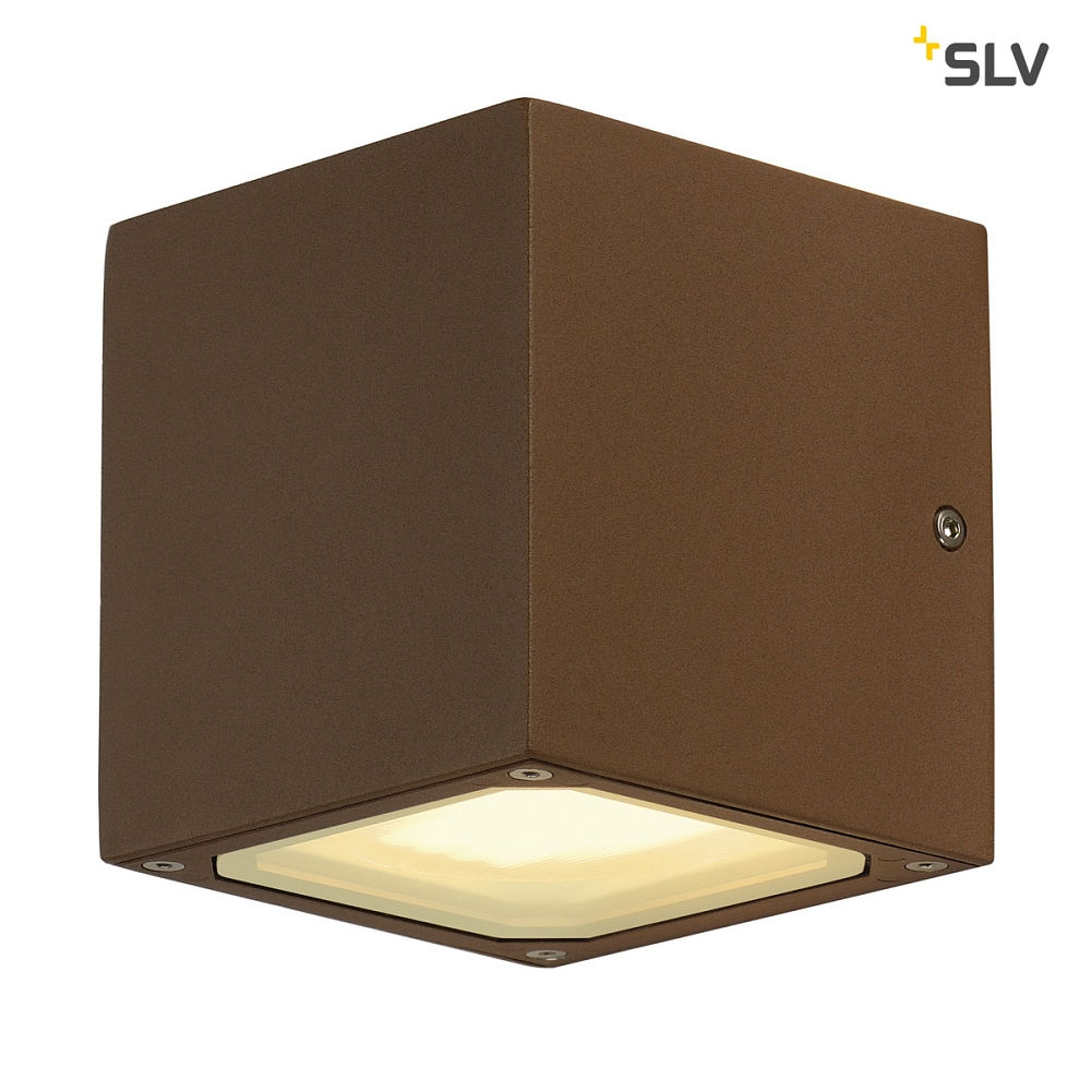 Udendørs Væglampe SITRA CUBE, UPDOWN, IP44, 2x GX53 TCR TSE max. 9W, rust farvet